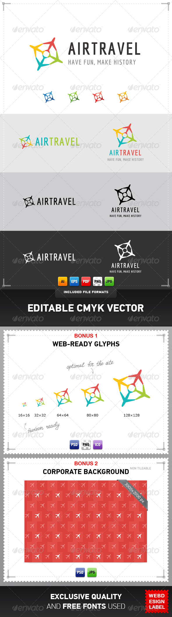 Air Travel Logo - Symbols Logo Templates