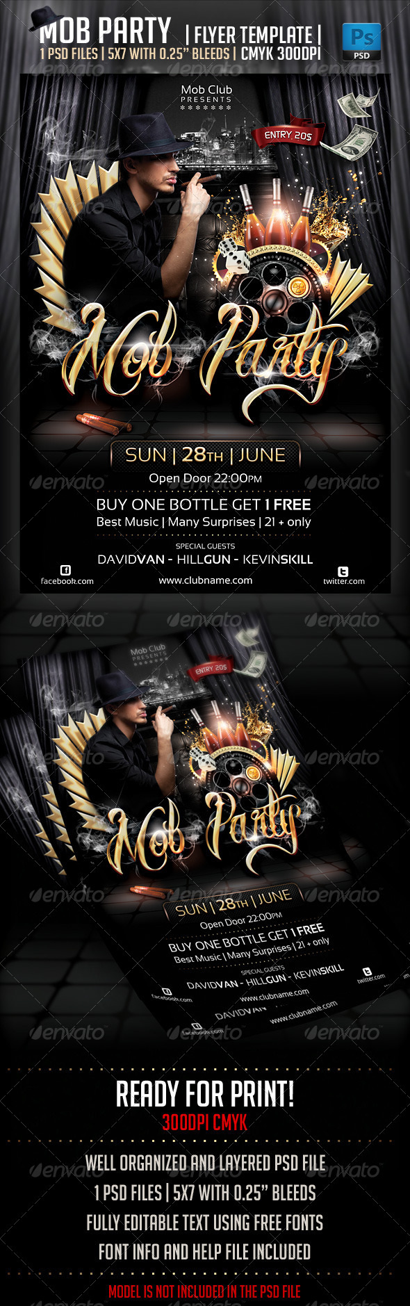Mob Party Flyer Template - Flyers Print Templates