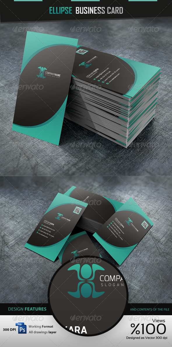 Ellipse Business Cardvisid - Business Cards Print Templates