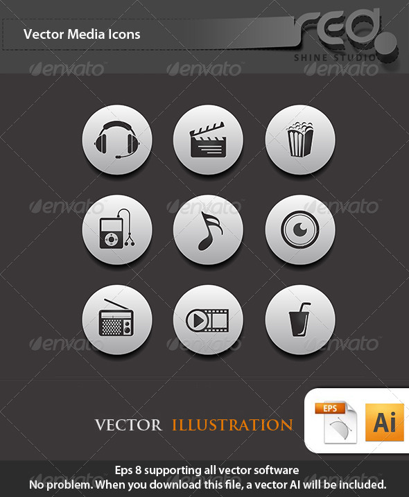 Media Icon Vector Pack 2 - Web Elements Vectors