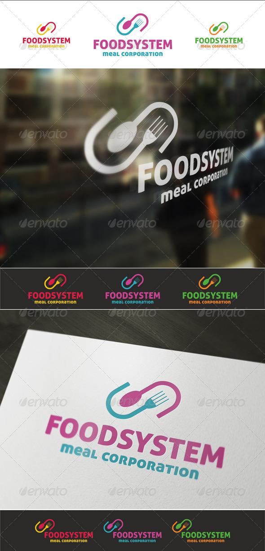 Food System Restaurant Logo - Food Logo Templates