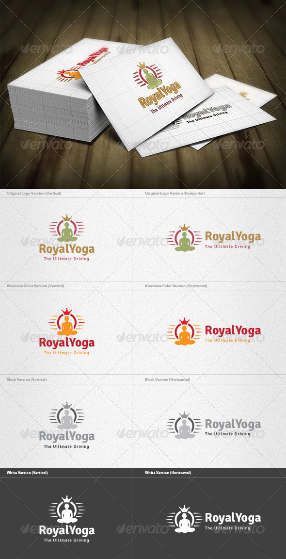 Royal Yoga Logo - Symbols Logo Templates