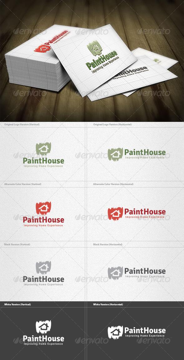 Paint House Logo - Buildings Logo Templates