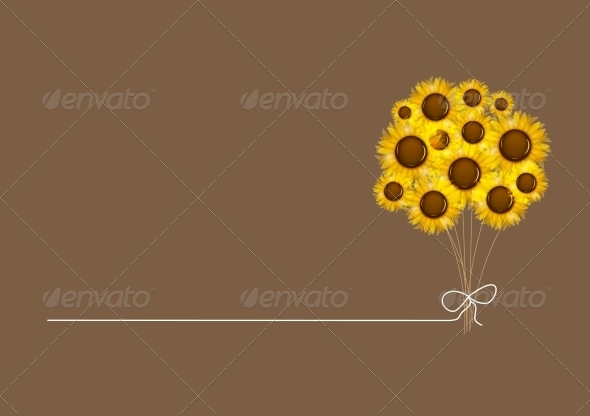 Abstract Colorful Background with Flowers. - Flowers & Plants Nature