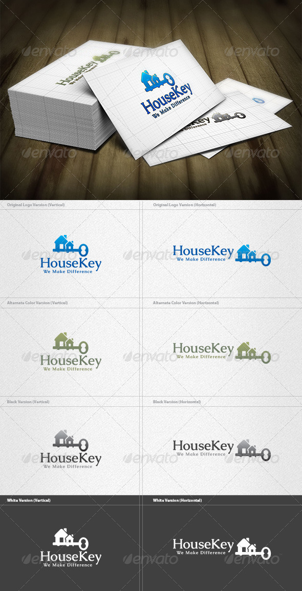 House Key Logo - Buildings Logo Templates