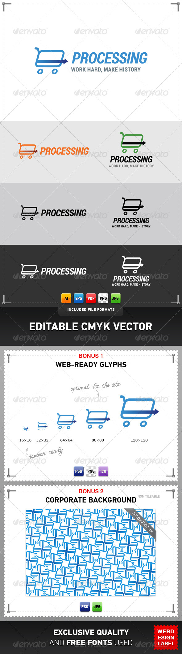 Card Processing Logo - Objects Logo Templates