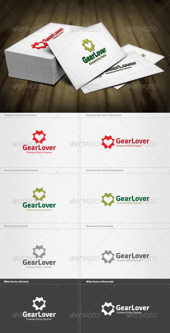 Gear Lover Logo - Vector Abstract