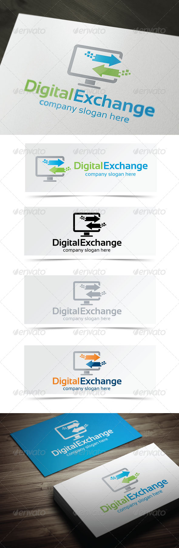 Digital Exchange - Objects Logo Templates