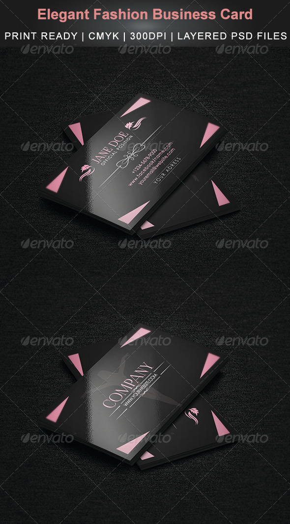 Elegant Fashion Business Card by Cata05 | GraphicRiver