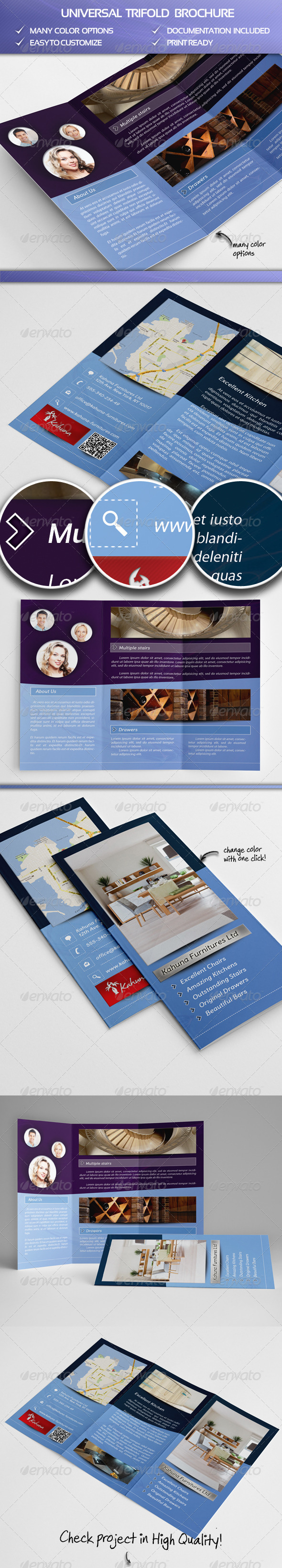 Universal Trifold Brochure - Portfolio Brochures