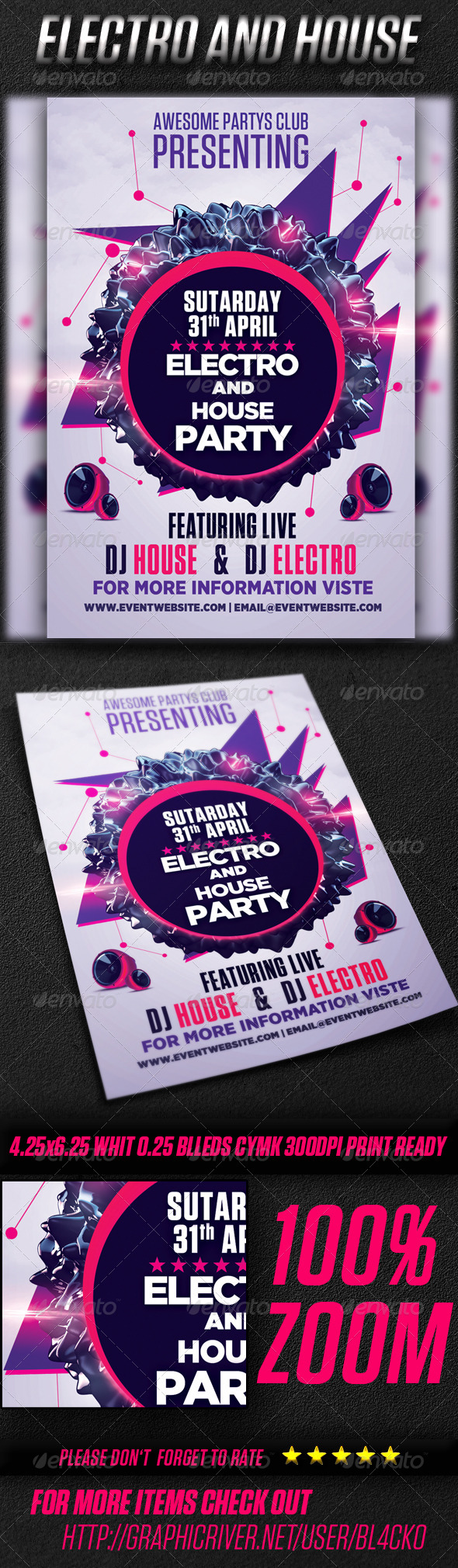 Electro And House Party Vol2 - Events Flyers