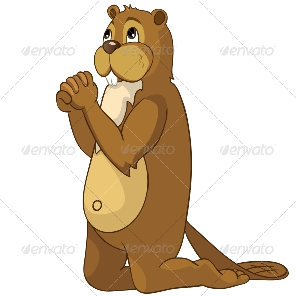Cartoon Character Beaver - Animals Characters