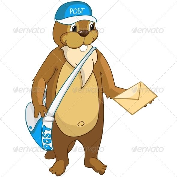 Cartoon Character Beaver - Animals Characters