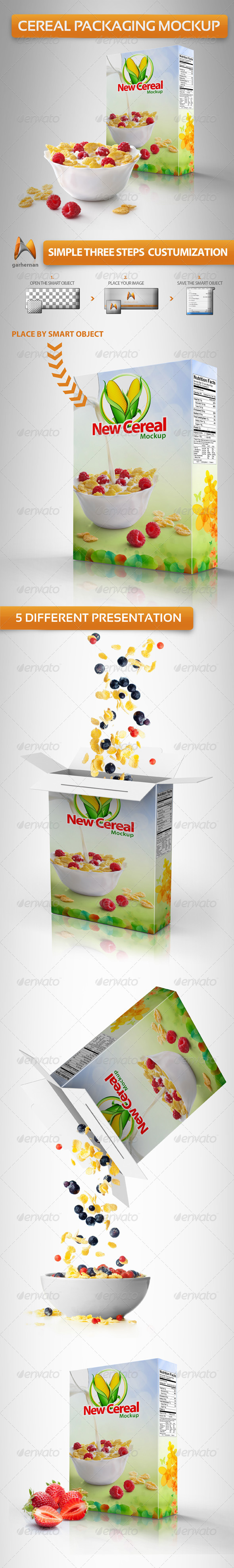Cereal Packaging Mockup - Miscellaneous Product Mock-Ups