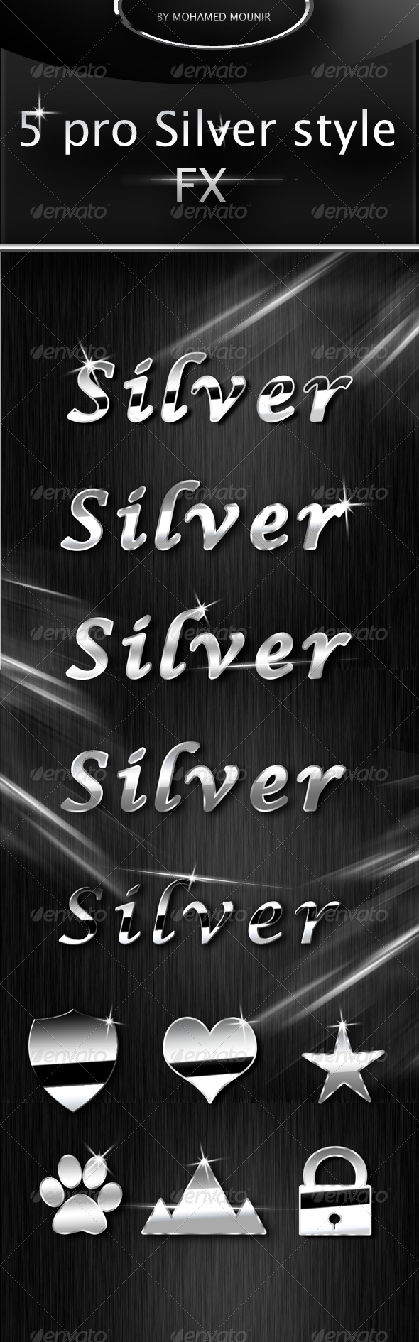 Silver Text Styles - Text Effects Actions