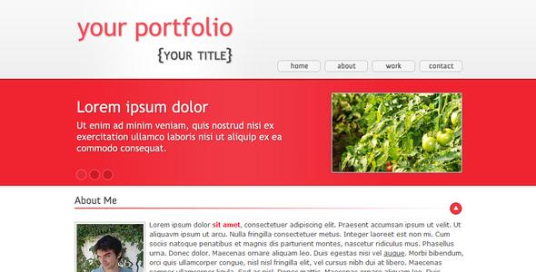 Domates - One Page Portfolio - Portfolio Creative