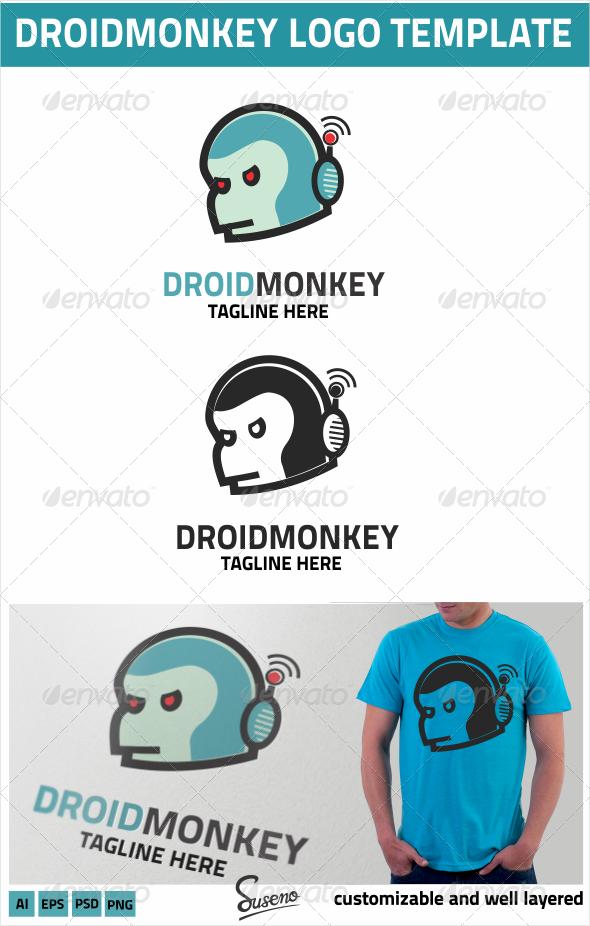 DroidMonkey Logo - Animals Logo Templates