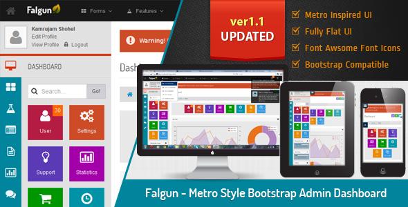 Falgun – Metro Style Bootstrap Admin Dashboard