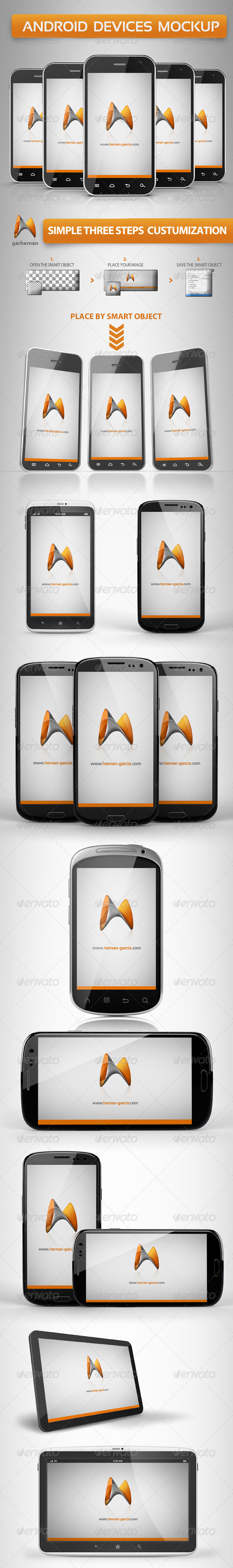Android Devices Mockup - Mobile Displays