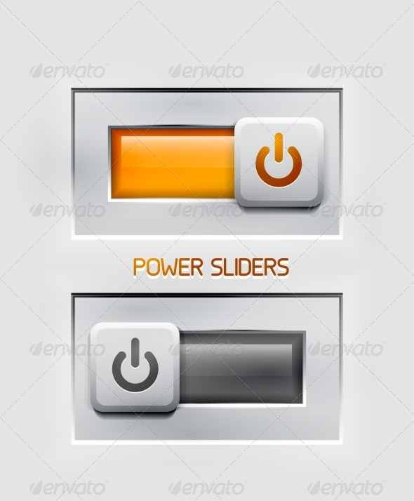 Vector Power Sliders Modern Icons - Web Elements Vectors