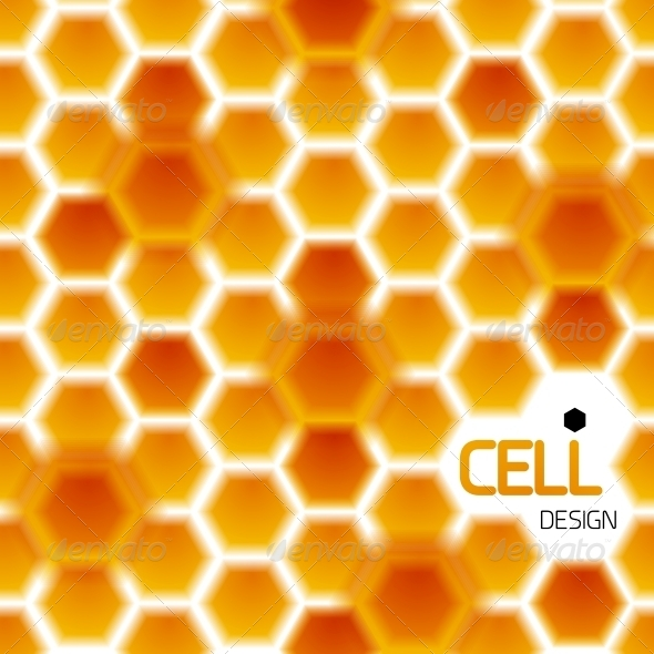Abstract Geometrical Honey Cells Modern Template - Backgrounds Decorative