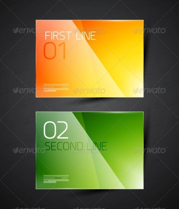 Modern Glossy Infographic Banner Design Template - Web Elements Vectors
