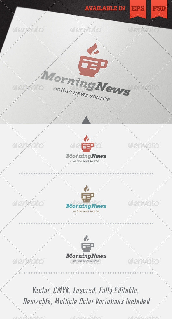 Morning News Logo Template - Objects Logo Templates