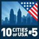 Vector City Skyline Set. USA #5 - GraphicRiver Item for Sale