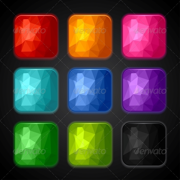 Set of Geometric Backgrounds for the App Icons. - Web Technology