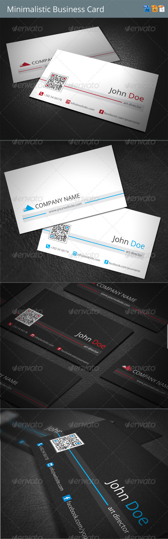Minimalistic Business Card - Corporate Business Cards