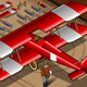 Isometric Red Biplane Landed in Rear View - GraphicRiver Item for Sale