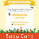 Birthday Invitation - Spring Humming Bee - GraphicRiver Item for Sale