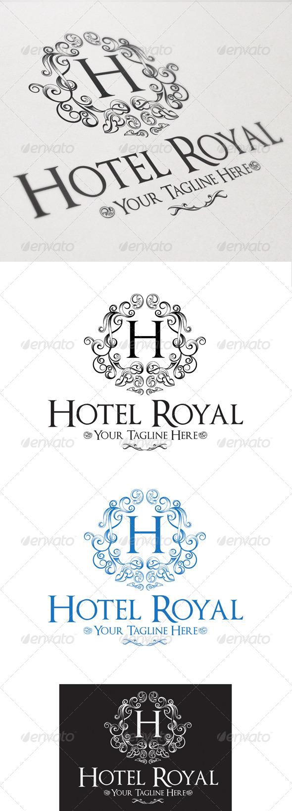Hotel Royal - Crests Logo Templates