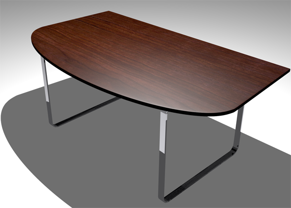 Simple Office Desk - 3DOcean Item for Sale