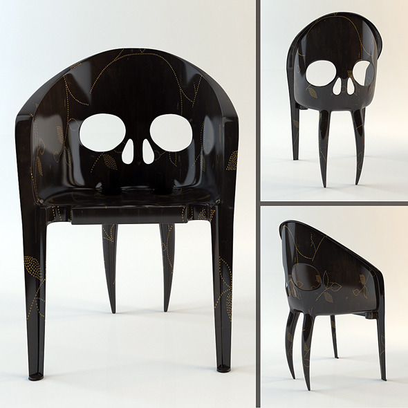 "Chair ""The Skull with Fangs"" (hi-poly model) - 3DOcean Item for Sale"