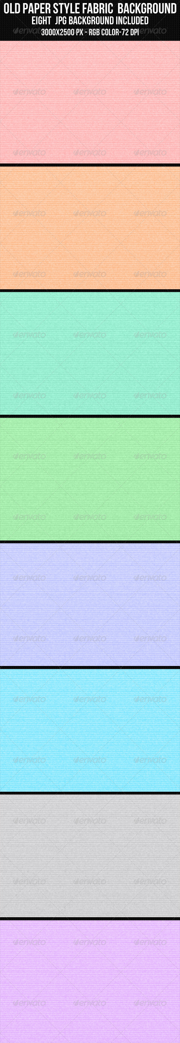 Old Paper Style Fabric Background Set - Patterns Backgrounds