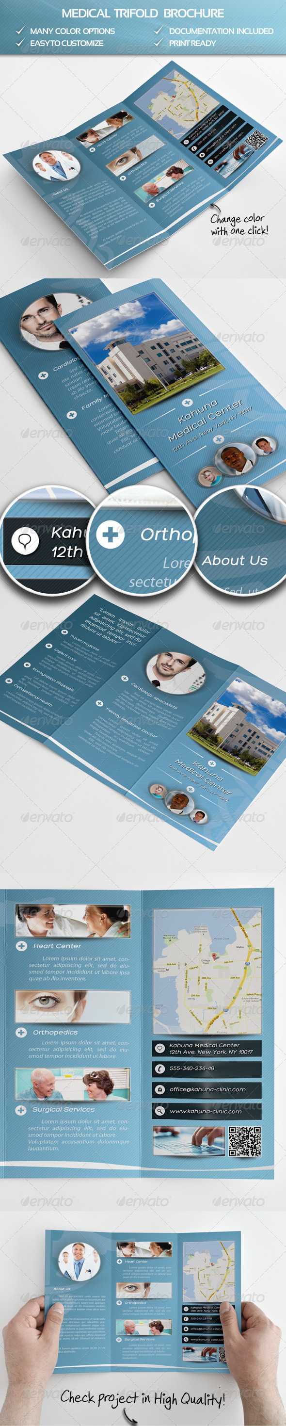 Medical Trifold Brochure - Informational Brochures