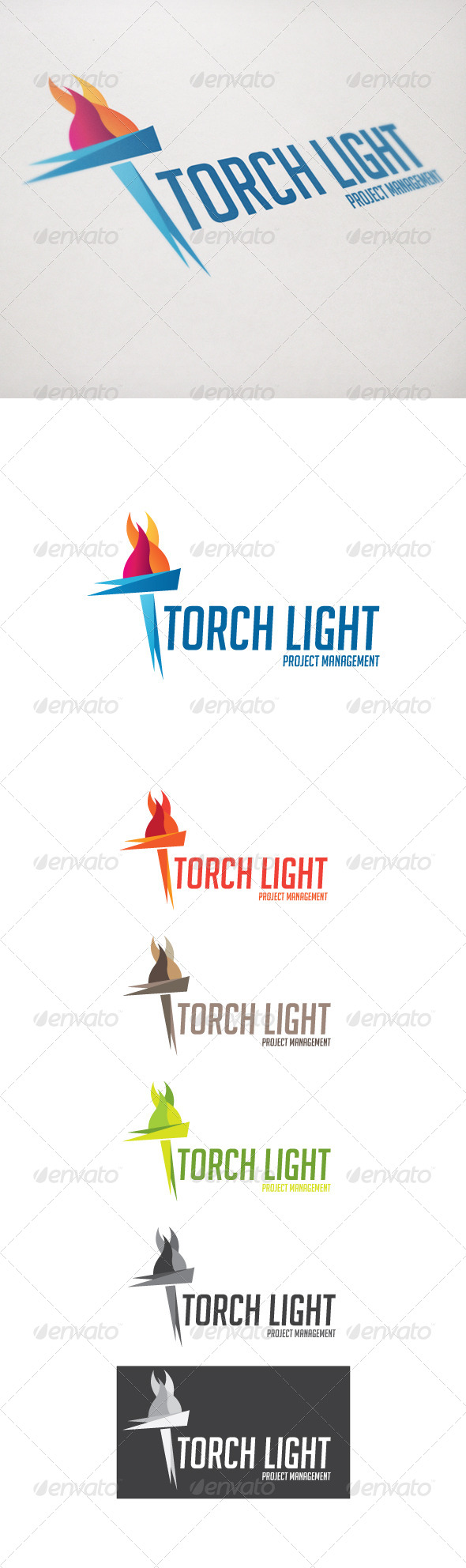 Torch light - Objects Logo Templates