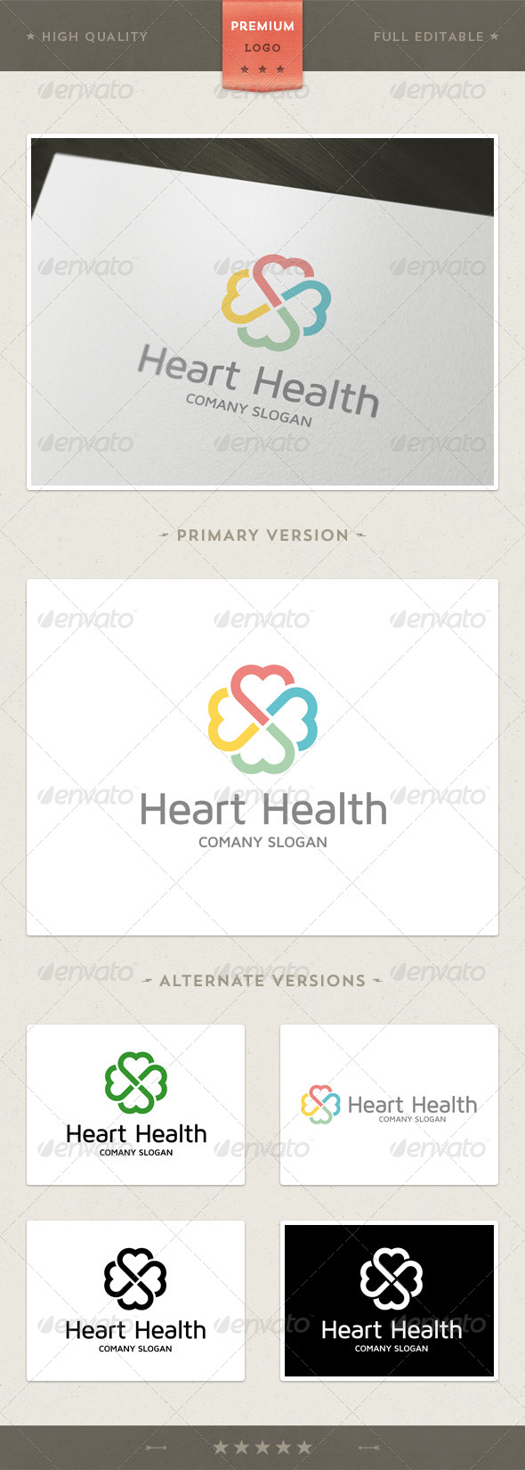 Heart Health Logo Template - Symbols Logo Templates
