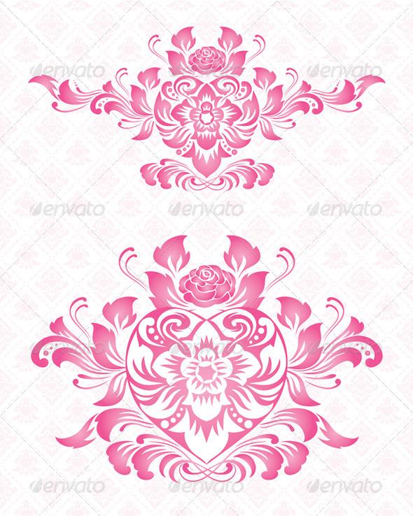 Ornament Heart - Decorative Symbols Decorative