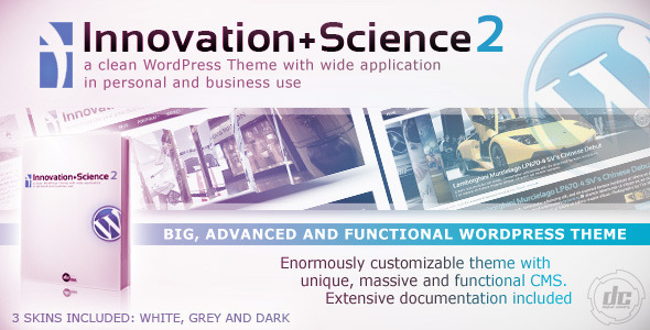 Innovation+Science 2 - Advanced WordPress Theme - Business Corporate