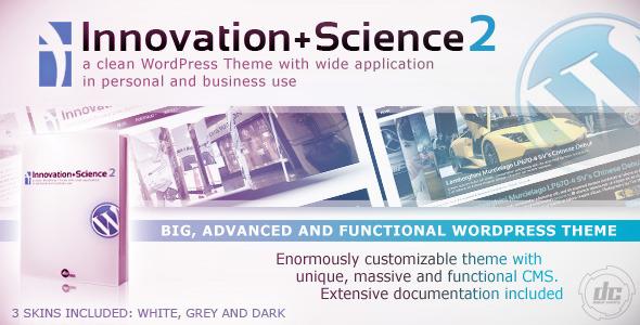Innovation+Science 2 - Advanced WordPress Theme - Business Corporate