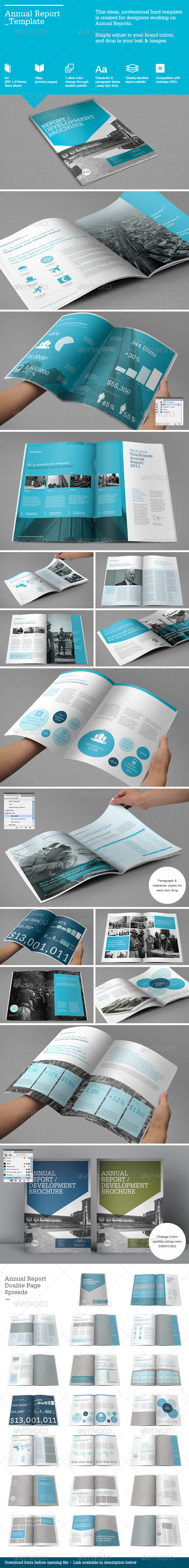 Annual Report Template by RWDesignStudio | GraphicRiver