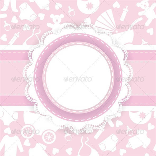 Baby Shower Card - Backgrounds Decorative