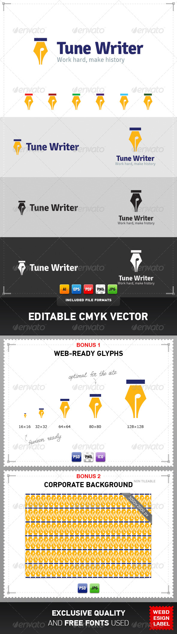 Tune Writer Logo - Objects Logo Templates