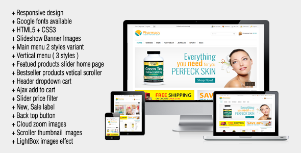 Pharmacy – Responsive Magento Theme