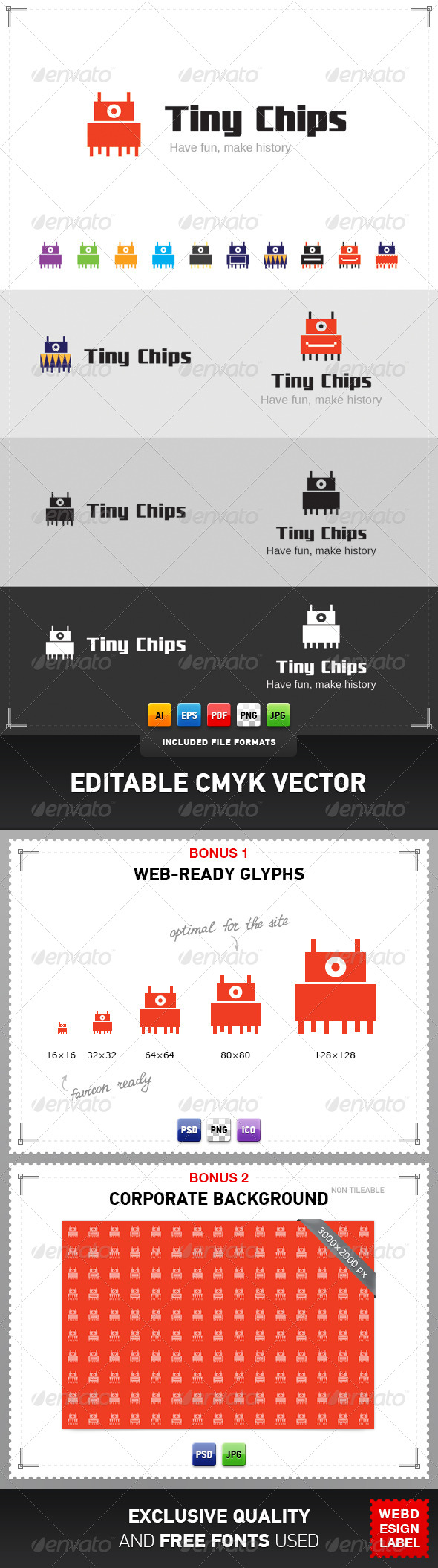 Tiny Chips Logo - Objects Logo Templates