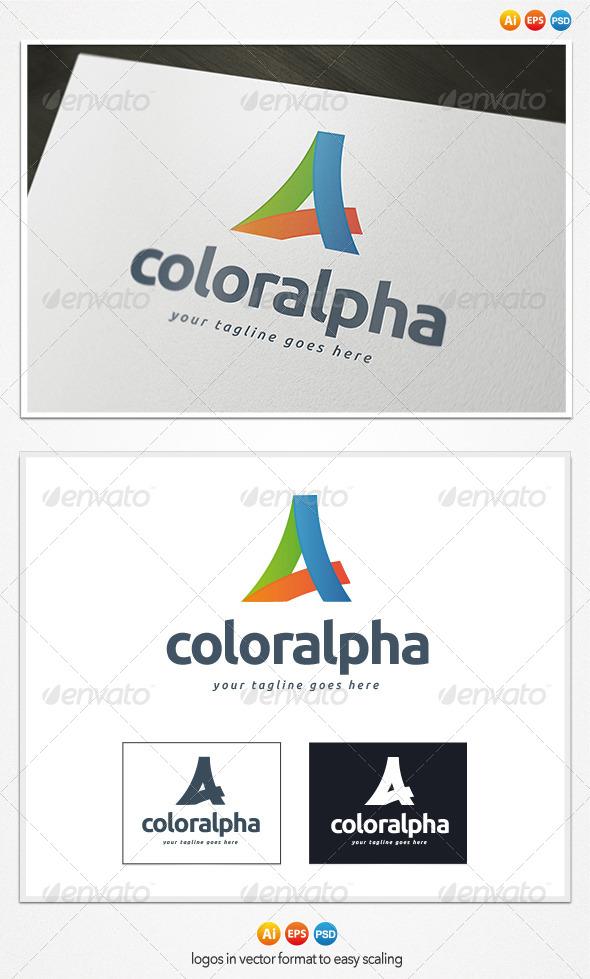 Color Alpha Logo - Letters Logo Templates