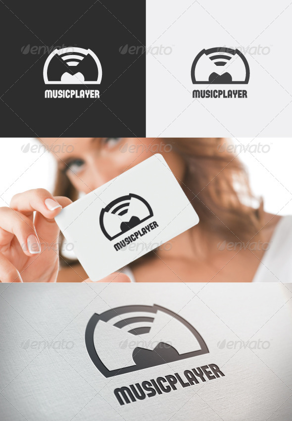Music player logo - Letters Logo Templates