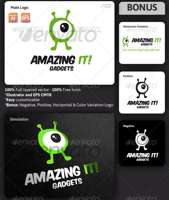 Gadgets Logo Template - Humans Logo Templates